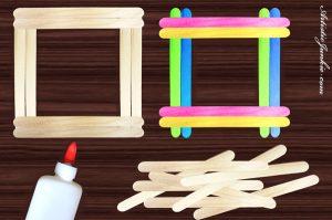 Popsicle Stick Photo Frame