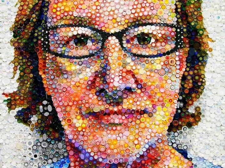 11 + DIY Ideas to Design a Bottle Cap Mosaic