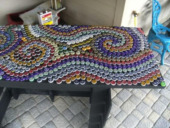 11 Diy Ideas To Design A Bottle Cap Mosaic