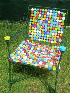 Bottle Cap Mosaic Idea