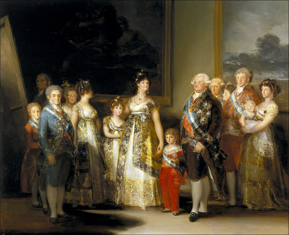 Charles IV of Spain and His Family Popular Painting of Goya