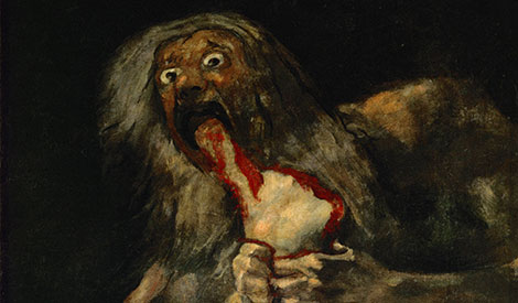 Saturn Devouring His Son Goya Black Painting