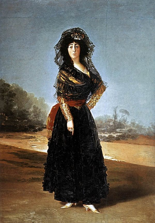 The Black Duchess Goya Duchess of Alba Painting