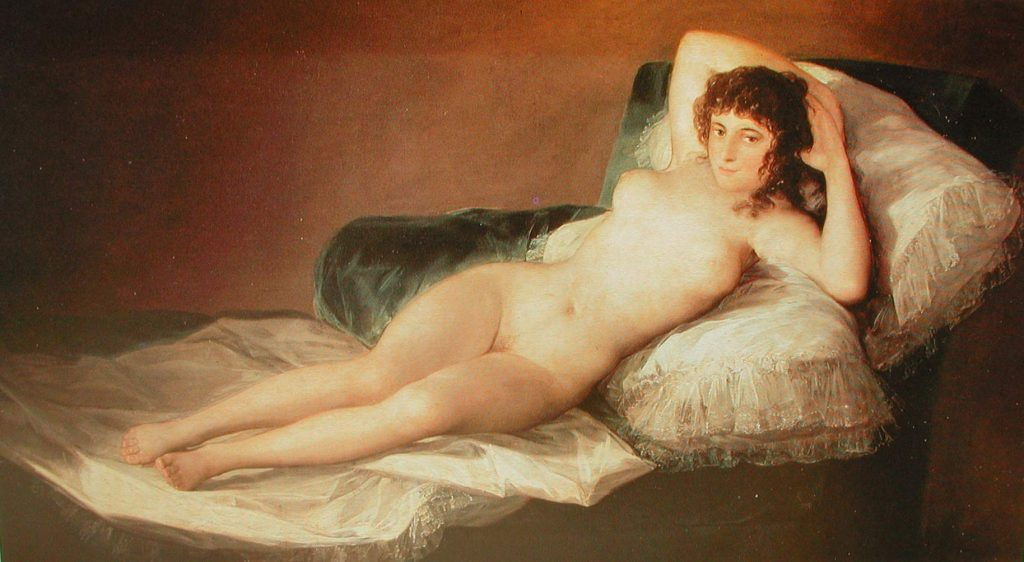 The Nude Maja Francisco Goya Francisco Goya Famous Paintings