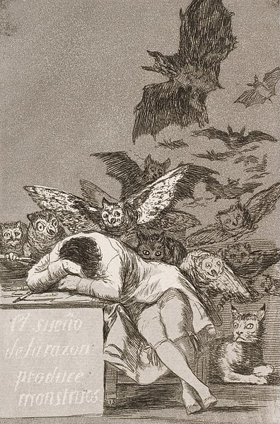 The Sleep of Reason Produces Monsters Francisco de Goya Etchings