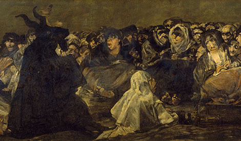 Witches' Sabbath Goya Goat Painting