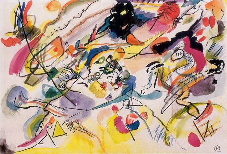 Composition VII Kandinsky's First Abstract Water Color