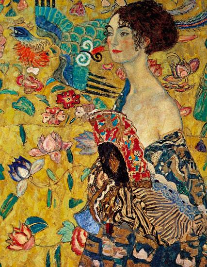 Klimt Lady with Fan