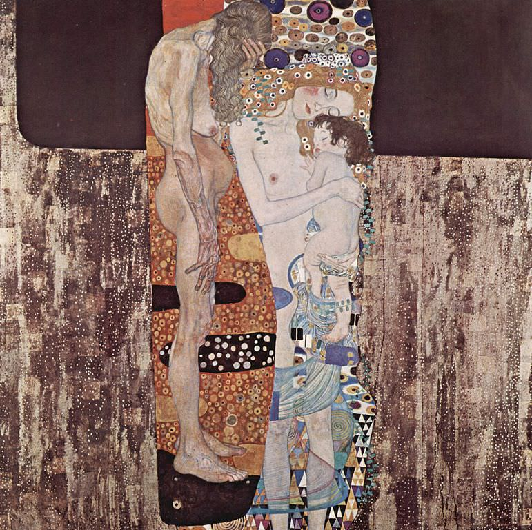 Mother and Child Painting by Klimt