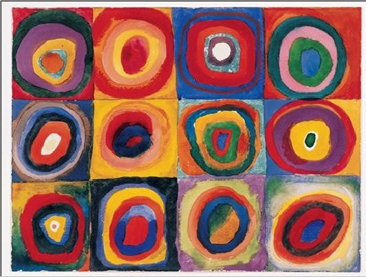 Squares with Concentric Circles Kandinsky Abstract Paintings for Kids