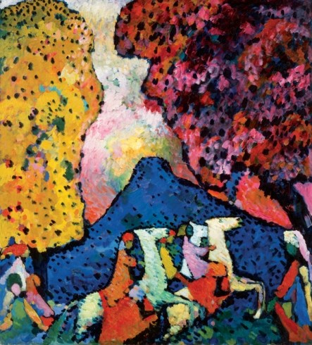 The Blue Mountain Kandinsky Early Kandinsky Painting