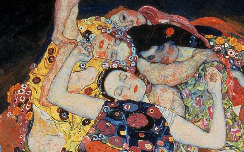 The Maiden Klimt Painting