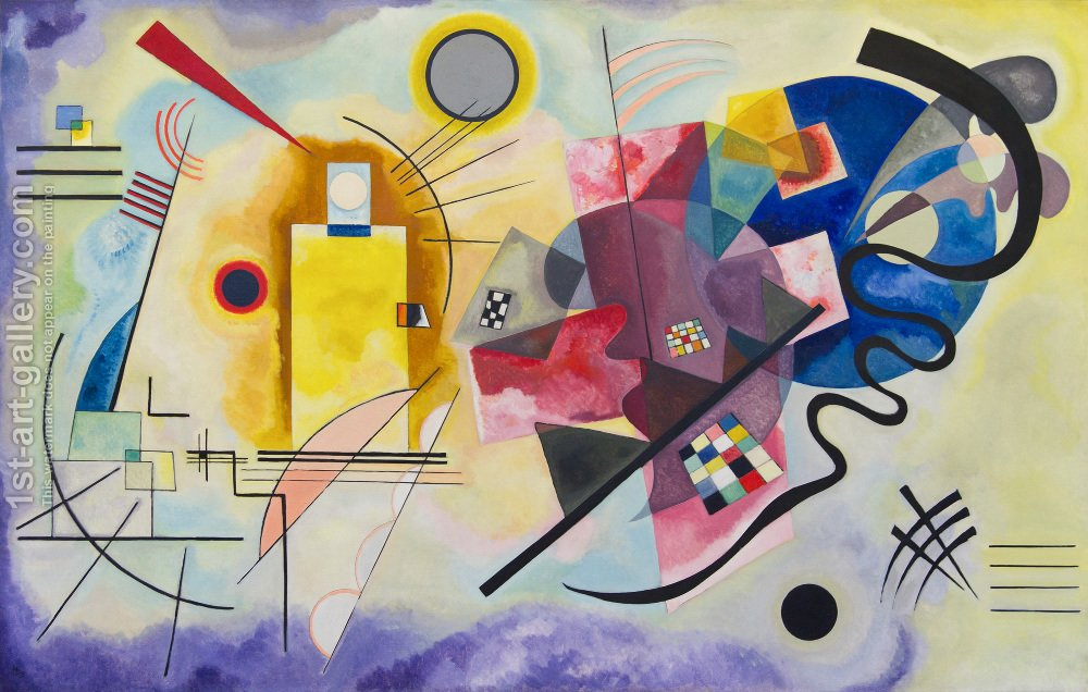 Yellow Red Blue Kandinsky's Music in Art Painting