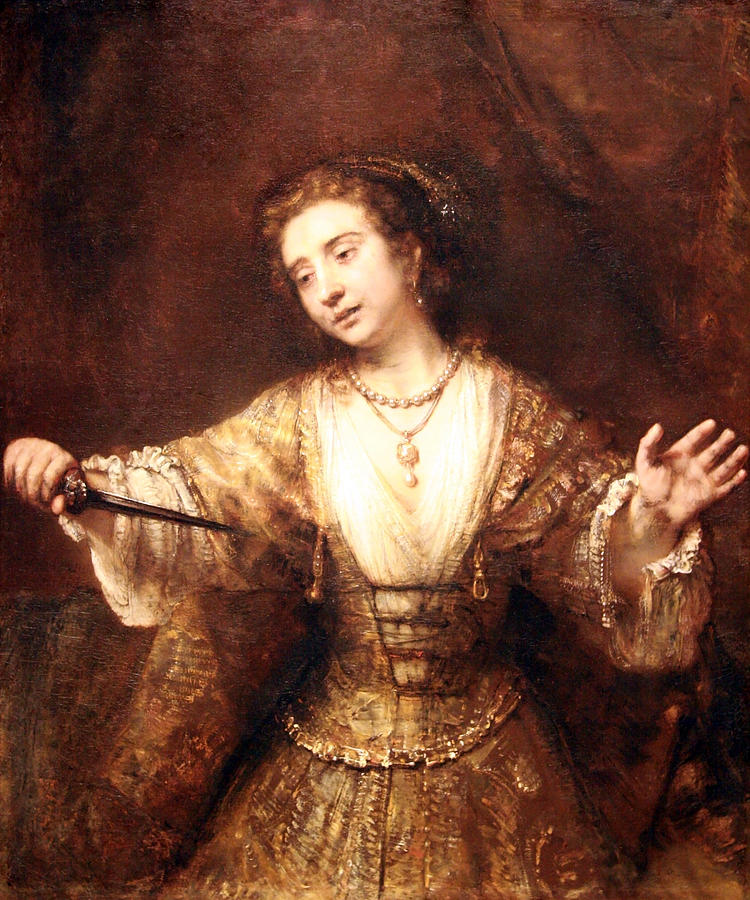 Lucretia Painting of Rembrandt