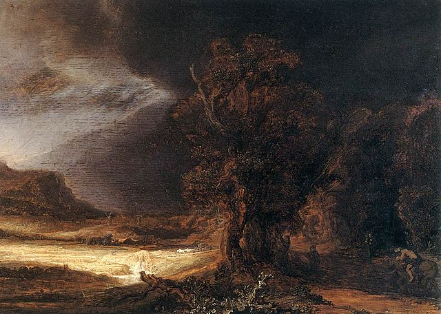 Rembrandt Landscape with the Good Samaritan