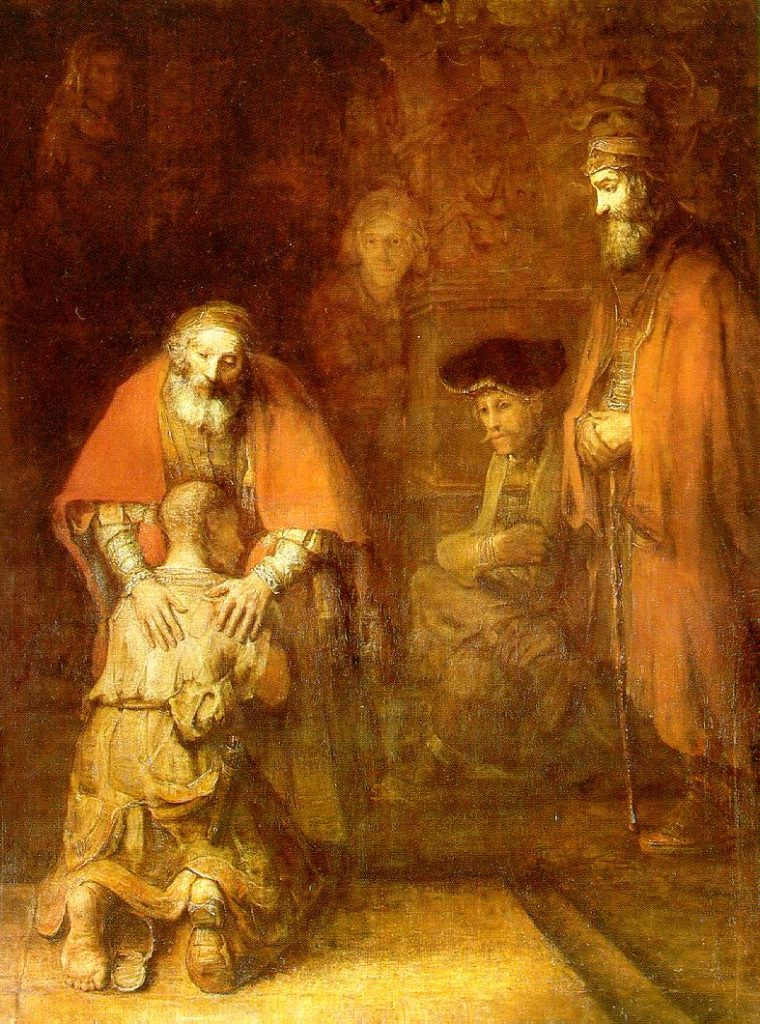Rembrandt Painting The Return of the Prodigal Son