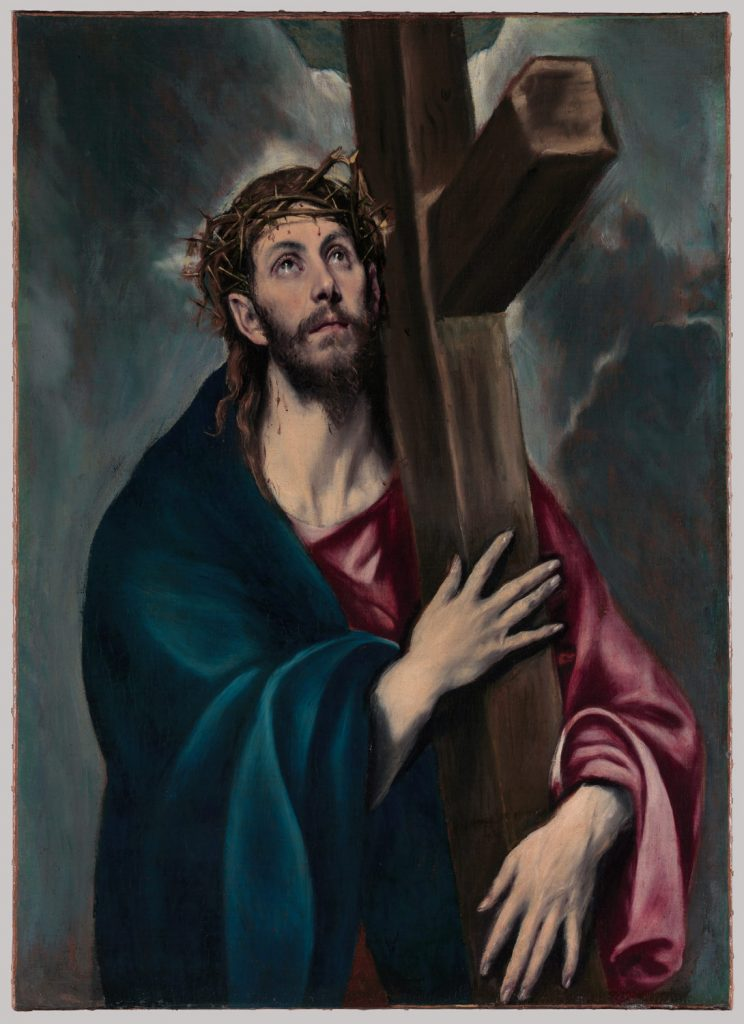 Christ Carrying the Cross El Greco Jesus Painting