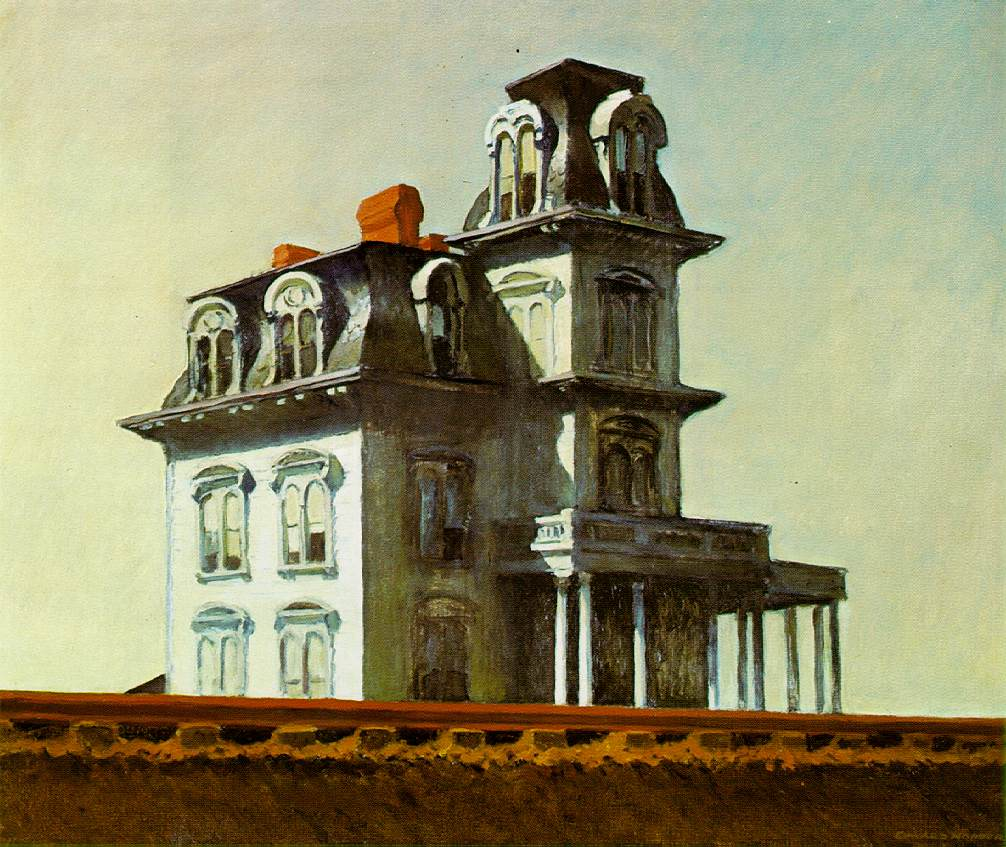 House by the Railroad Edward Hopper Painting