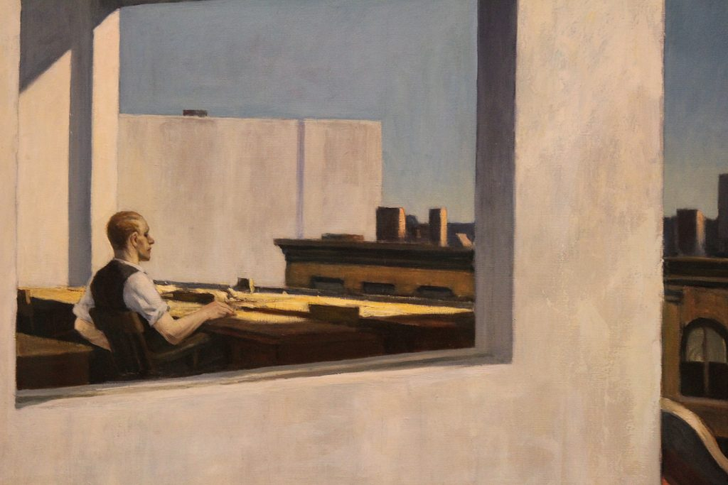 Office in a Small City Painting of Edward Hopper