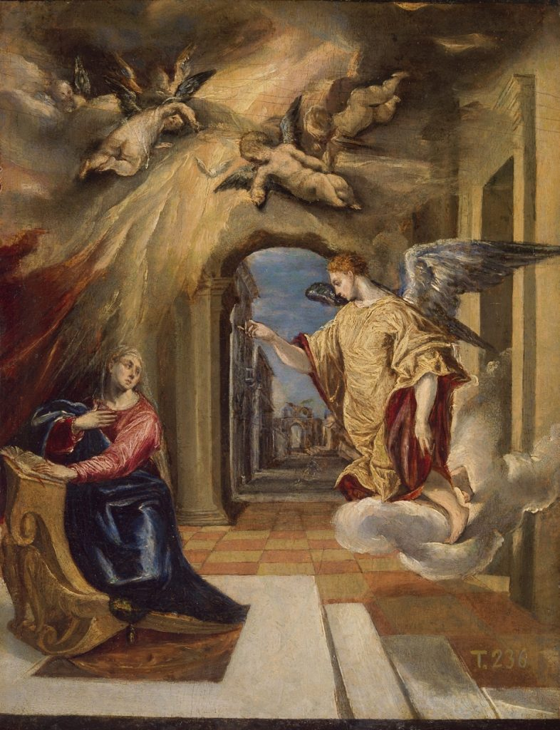 The Annunciation Painting El Greco