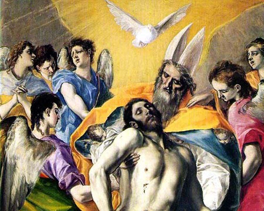 The Holy Trinity Painting By El Greco
