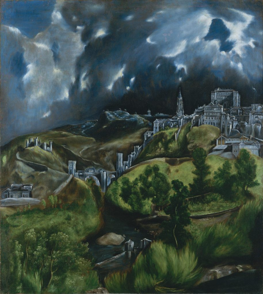 View of Toledo El Greco Landscape Painting