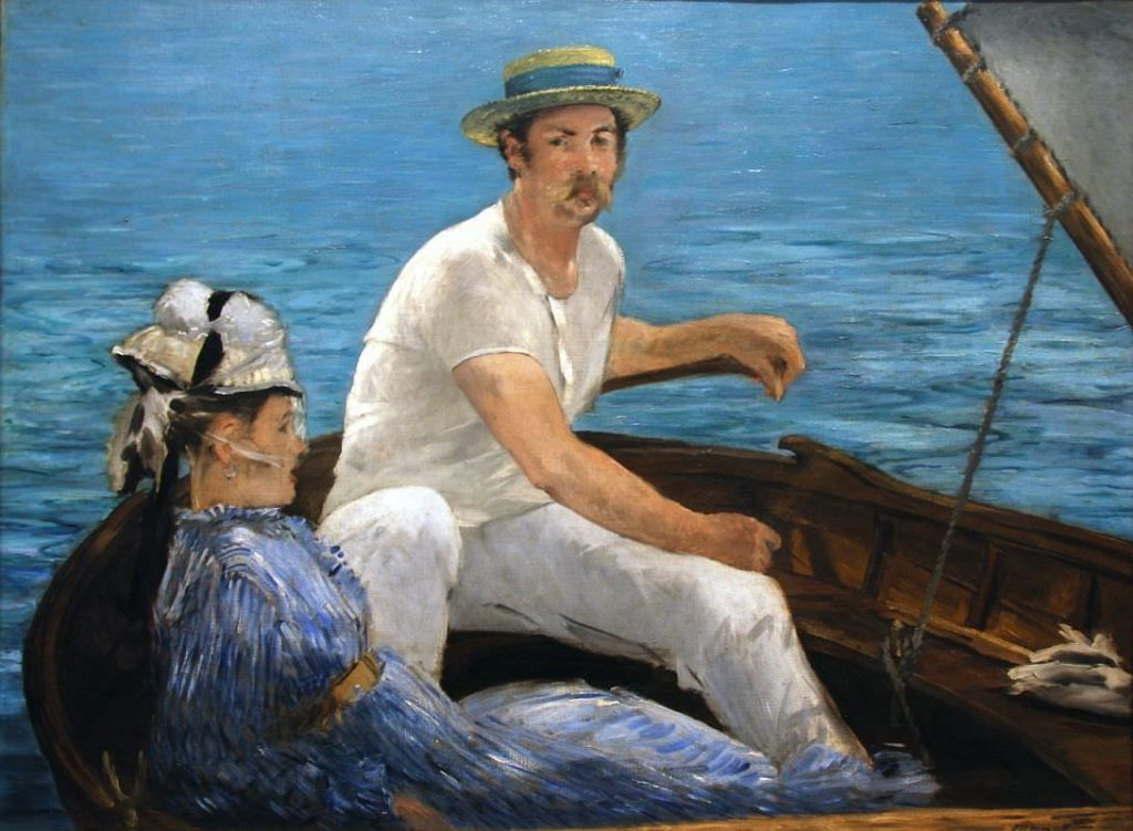 Boating Painting of Manet