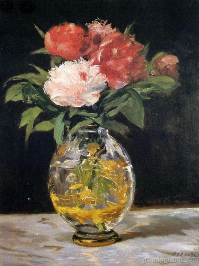 Bouquet of Flowers Painting By Manet