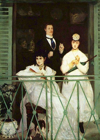 The Balcony by Manet