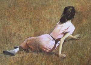 Andrew Wyeth Christina's World Girl in the Field Painting