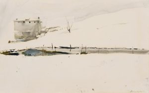 Andrew Wyeth Farm Pond