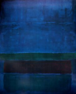 Blue Green and Brown Rothko Painting
