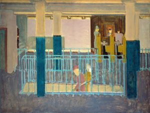 Entrance to Subway Rothko Painting
