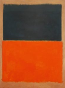 Green Tangerine and Red Rothko Paintings