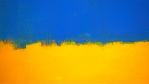 Mark Rothko Yellow and Blue Painting