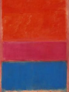 Red and Blue Painting by Rothko