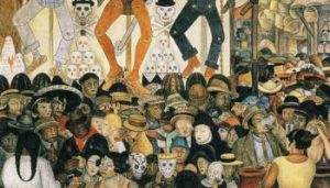 Day of the Dead Painting by Diego Rivera
