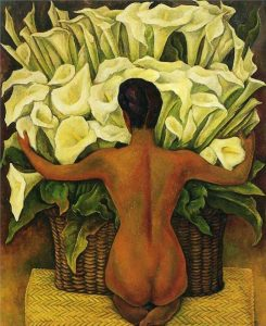 Nude with Calla Lilies Diego Rivera Nude Paintings