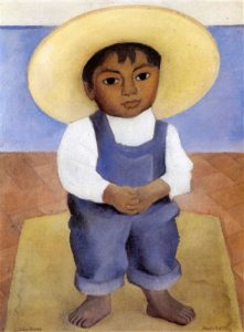 Retrato de Ignacio Sanchez Diego Rivera Boy Painting