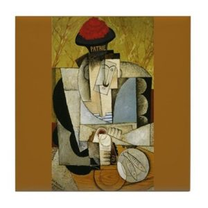 Sailor at Breakfast Rivera Cubist Painting