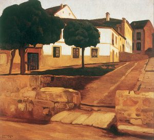 Street in Avila Diego Rivera Landscape Paintings