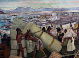 Tenochtitlan Marketplace Painting by Rivera
