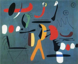 Joan Miró Painting 1933 Abstract Work