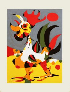 The Rooster Serigraph